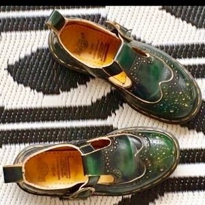 ISO Dr Martens green buckle oxford Mary Jane's